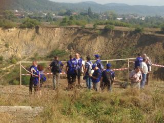 EUCP Team visit to crater collapsed mine
